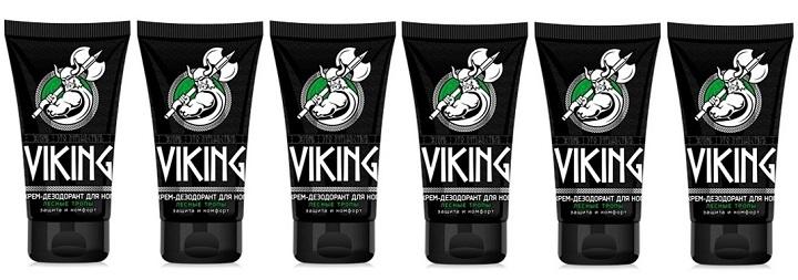 Viking Крем-дезодорант для ног 75мл Лесные тропы 6шт