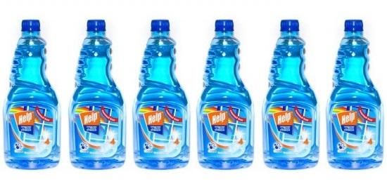 1-0338 Средство для мытья стекл Help Свежий озон 0,75л без распылителя 6шт