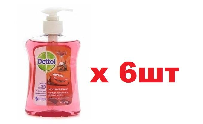Dettol Жидкое Мыло 250мл Восстановление 6шт